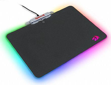 Mouse Pad Gamer Redragon Kylin - 350 x 250 x 3.6mm - Iluminação RGB - USB - P008