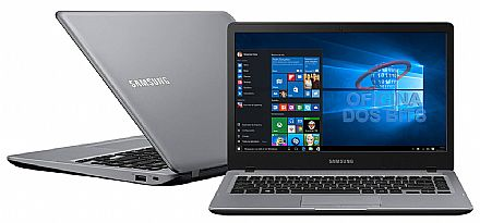 "Notebook Samsung Essentials E35S - Tela 14"", Intel Core i3 6006U, 4GB, HD 1TB, Intel HD Graphics 520, Windows 10 - Prata - NP300E4L-KW1BR"