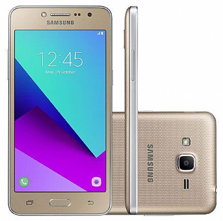 """Smartphone Samsung Galaxy J2 Prime - Tela 5"""" HD, Quad Core, Câmera 8MP e Flash Frontal, 16GB, Dual Chip 4G - Dourado - SM-G532M"""