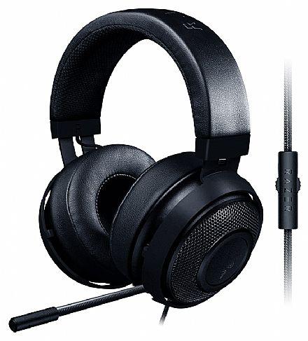 Headset Razer Kraken Pro V2 - Microfone retrátil - com Controle de Volume - Conector 3.5mm - Preto - RZ04-02050400-R3U1