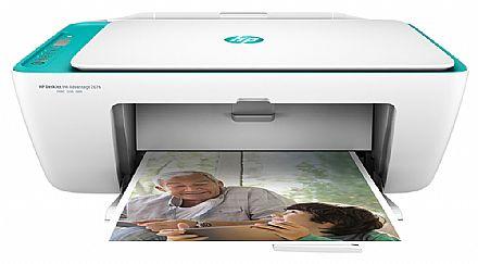 Multifuncional HP DeskJet Ink Advantage 2676 - USB, Wi-Fi - Open Box - Y5Z00A