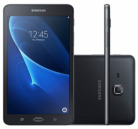 "Tablet Samsung Galaxy Tab A T280 - Tela 7"", Android, 8GB, Quad Core, Wi-Fi, Câmera 5MP - Preto - Open Box"