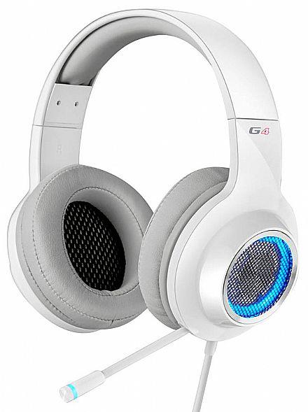 Headset Gamer Edifier G4 - 7.1 Canais - com Vibração e LED - Microfone retrátil - Conector USB - Branco
