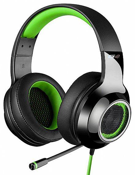 Headset Gamer Edifier G4 - 7.1 Canais - com Vibração e LED - Microfone retrátil - Conector USB - Verde