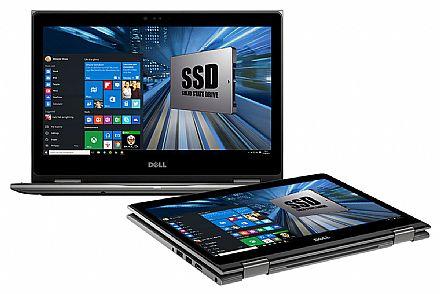 """Notebook Dell Inspiron i15-5578-R20C 2 em 1 - Tela 15.6"""" Touch Full HD, Intel i7 7500U, 16GB, HD 1TB, Windows 10 - Cinza - Garantia 1 ano - Seminovo"""