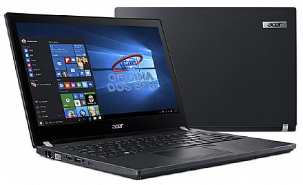 "Notebook Acer TravelMate P4 TMP449-G2-M-317Q - Tela 14"" HD, Intel i3 7100U, 4GB DDR4, HD 1TB, Leitor de Digital, Leitor SmartCard, Windows 10 Professional"