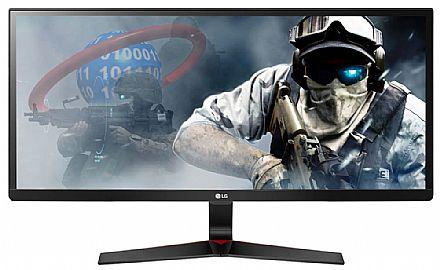 "Monitor 29"" LG Gamer 29UM69G - Tela IPS Full HD UltraWide 2560x1080 - FreeSync - Modo Gamer - Resposta de 1ms - USB Tipo C - HDMI/DisplayPort"