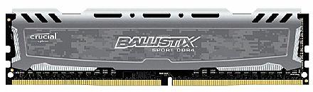 Memória 16GB DDR4 2400MHz Crucial Ballistix Sport LT - CL16 - Cinza - BLS16G4D240FSB