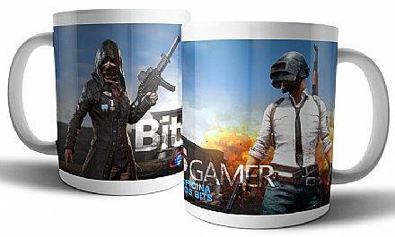 Caneca de porcelana - Bits Gamer Playerunknown`s Battlegrounds