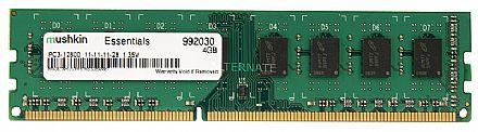 Memória 4GB DDR3 1600MHz Mushkin - CL11 - Low Voltage 1.35V - 992030