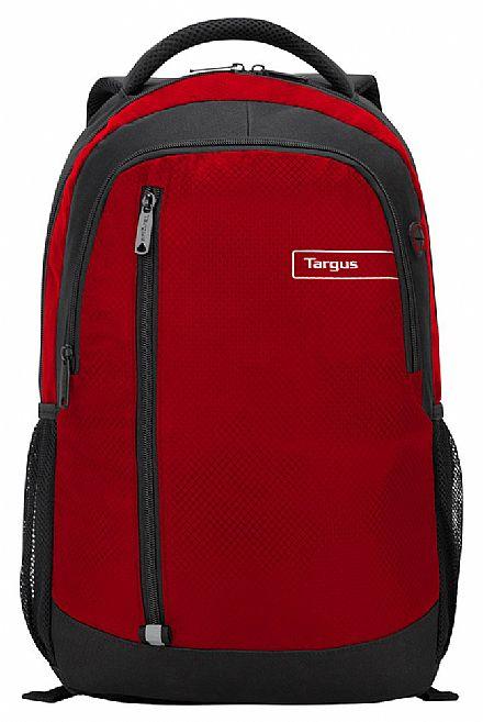 """Mochila Targus City TSB89103 - para Notebooks de até 15.6"""" - Vermelha"""