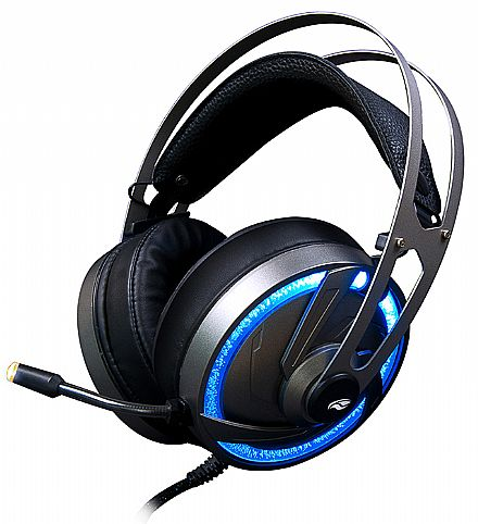 Headset Gamer C3Tech GoShawk - LED RGB - com Controle de Volume - Conectores 3.5mm e USB - PH-G300SI C3T