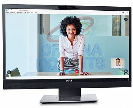 """Monitor 24"""" Dell Professional P2418HZ para videoconferências - Full HD - Câmera Full HD, Microfone e Som integrados - Ajuste de inclinação e rotação - VESA"""