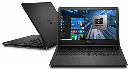 "Notebook Dell Inspiron i15-5566-R50P - Tela 15.6"", Intel i7 7500U, 16GB, SSD 240GB, Intel HD Graphics 620, Windows 10 - Preto - Garantia 1 ano - Seminovo"