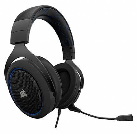 Headset Corsair Gaming HS50 - com Controle de Volume - Conector 3.5mm - Blue - CA-9011172-NA