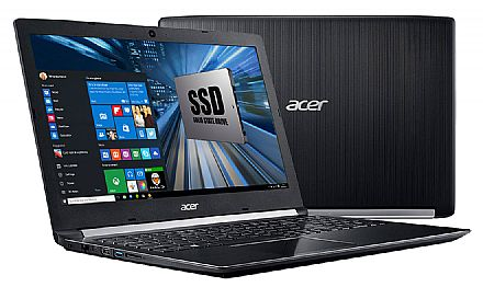 "Notebook Acer Aspire A515-51-51UX - Tela 15.6"", Intel i5 7200U, 12GB DDR4, SSD 480GB, Windows 10 - Seminovo"