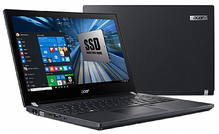 "Notebook Acer TravelMate P4 TMP449-G2-M-513D - Tela 14"" HD, Intel i5 7200U, 16GB DDR4, SSD 240GB, Leitor de Digital, Leitor SmartCard, Windows 10 Professional"