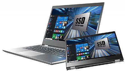 """Notebook Lenovo Yoga 520 2 em 1 - Tela 14"""" HD Touchscreen, Intel i5 7200U, 8GB, SSD 240GB, Leitor Biométrico, Windows 10 - 80YM0007BR"""