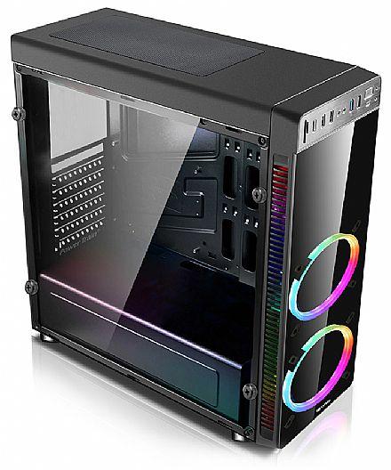 Gabinete Gamer C3 Tech MT-G1000BK - USB 3.0 - Janela Lateral de Vidro - LED RGB