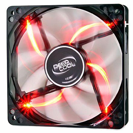 Cooler 120x120mm Deepcool Wind Blade - LED Vermelho - DP-FLED-WB120-RD