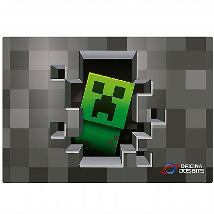 Mouse Pad Bits Gamer Minecraft - 250 x 360mm - Grande