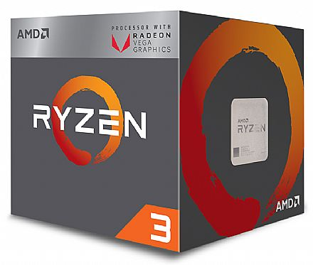 AMD Ryzen™ 3 2200G Quad Core - 4 Threads - 3.5GHz (Turbo 3.7GHz) - Cache 6MB - AM4 - TDP 65W - Radeon™ VEGA Graphics - YD2200C5FBBOX