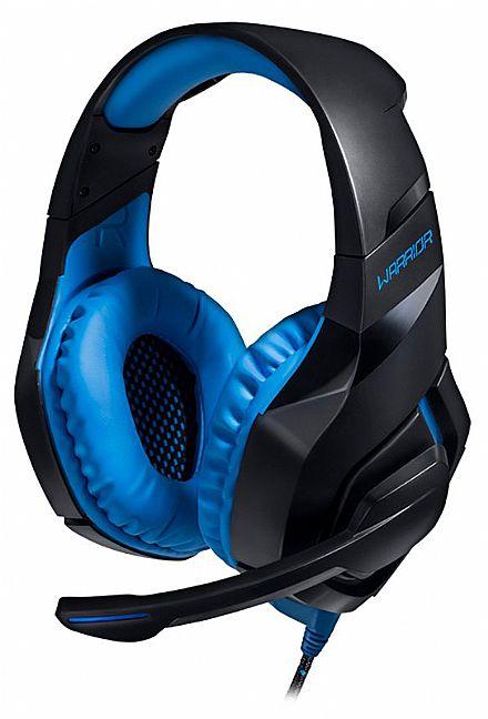 Headset Gamer Multilaser Warrior 2.0 PH244 - com Microfone - Controle de volume no cabo - Conector USB - LED Azul
