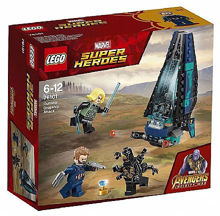 LEGO Marvel Super Heroes - Ataque à Escolta de Cargueiro - 76101