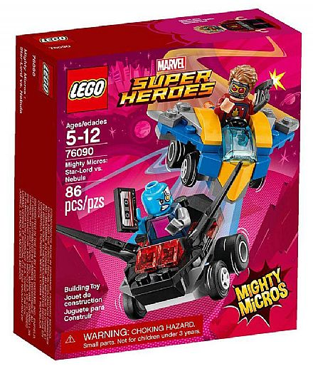 LEGO Marvel Super Heroes - Mighty Micros: Senhor-das-Estrelas vs. Nebula - 76090