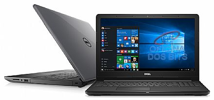 "Notebook Dell Inspiron i15-3567-A15C - Tela 15.6"" HD, Intel i3 7020U, 4GB, SSD 120GB, Intel HD Graphics, Windows 10"