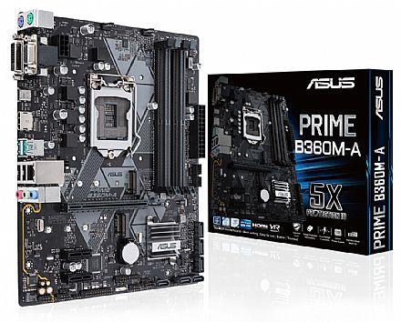 Asus PRIME B360M-A (LGA 1151 - DDR4 2666) Chipset Intel B360 - 8ª Geração Coffee Lake - USB 3.1 Tipo C - Slots M.2 - Micro AT