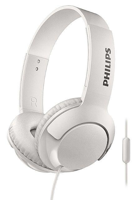 Fone de Ouvido Philips SHL3075WT/00 - Conector 3.5mm - com Microfone - Branco