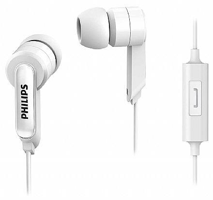 Fone de Ouvido Intra Auricular Philips - com Microfone - Conector 3.5mm - Branco - SHE1405WT/94 BR