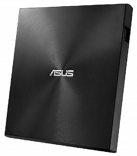 Gravador DVD Externo Asus Zen Drive U9M - Portátil - USB - Preto - SDRW-08U9M-U