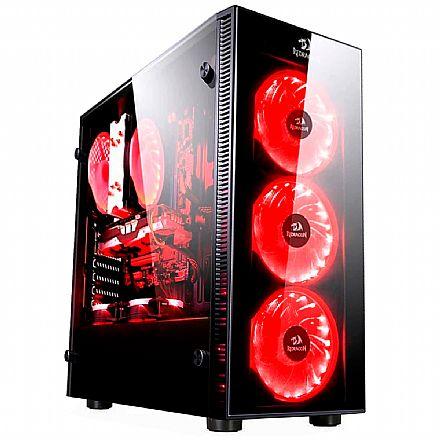 Gabinete Gamer Redragon Sideswipe - Coolers RGB - Janela Lateral em Vidro Temperado - Mid Tower - GC-601