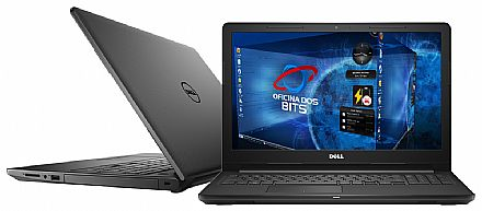 "Notebook Dell Inspiron i15-3567-D30P - Tela 15.6"", Intel i5 7200U, 4GB, HD 1TB, Intel HD Graphics 620, Linux - Preto - Outlet"