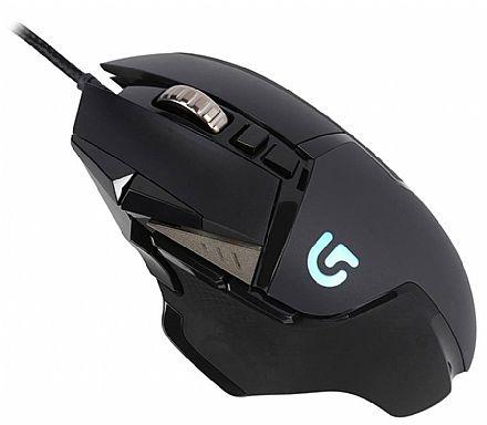 Mouse Gamer Logitech G502 Proteus Spectrum - 12000dpi - 11 Botões Programáveis - Controle de Peso - com LED RGB