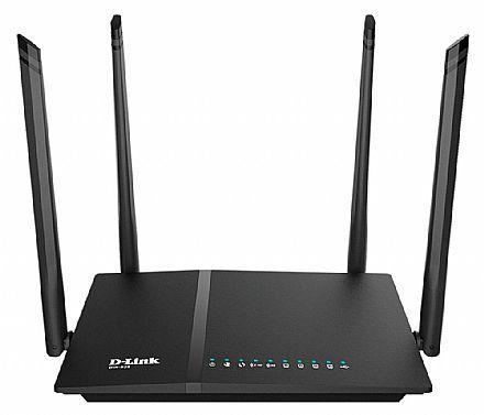 Roteador Wi-Fi D-Link DIR-825 AC1200 - Gigabit - Dual Band 2.4 GHz e 5 GHz - 1 Porta USB - 4 Antenas
