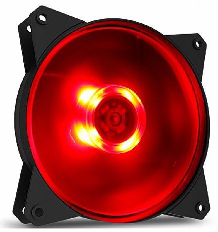 Cooler 120x120mm Cooler Master MasterFan MF120L - com LED Vermelho - R4-C1DS-12FR-R1