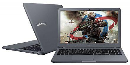 "Notebook Samsung Expert X40 - Tela 15.6"", Intel i5 8250U, 20GB, HD 1TB, GeForce MX110 2GB, Windows 10 - Titanium - NP350XAA-XD1BR"