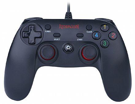 Controle Gamepad Redragon Saturn G807 para PC e PS3 - com Vibração e Modo Turbo