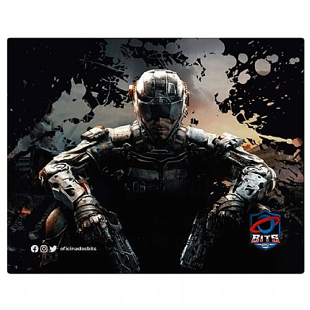 Mousepad Bits Gamer Call of Duty - Pequeno: 220 x 175mm