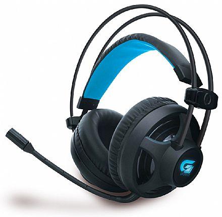 Headset Gamer Fortrek G Pro H2 - com Controle de Volume e Cancelamento de Ruídos - LED Azul - Conector 3.5mm e USB - 64390