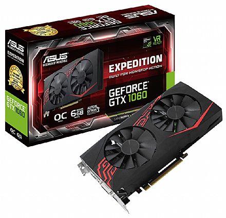 GeForce GTX 1060 6GB GDDR5 192bits - Expedition - Asus EX-GTX1060-06G
