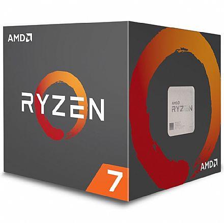 AMD Ryzen™ 7 2700 Octa Core - 16 Threads - 3.2GHz (Turbo 4.1GHz) - Cache 20MB - AM4 - TDP 65W - Wraith Spire Cooler - YD2700BBAFBOX - sem gráfico integrado