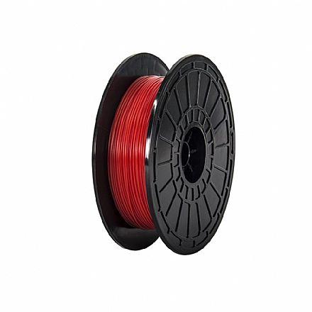 Filamento para Impressora 3D FFF - PLA Flexível Vermelho - 0,5Kg - 1,75mm - Flashforge