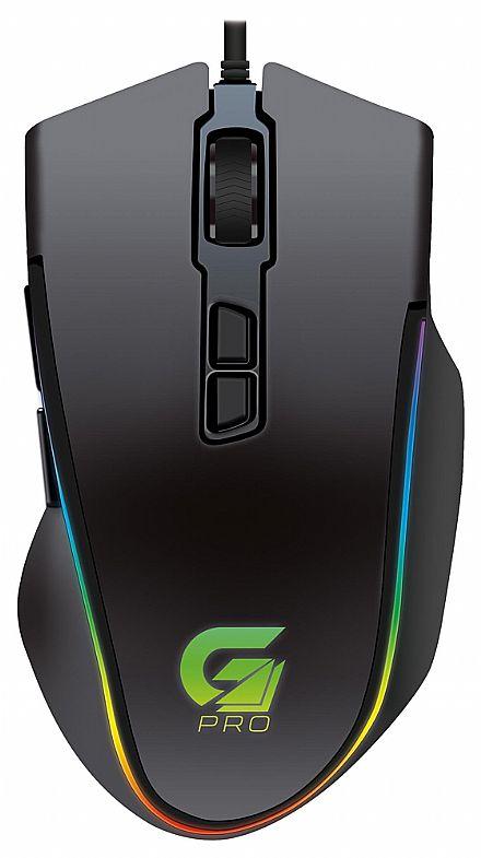 Mouse Gamer Fortrek PRO M9 - 4000dpi - 8 Botões - com LED RGB - 64387