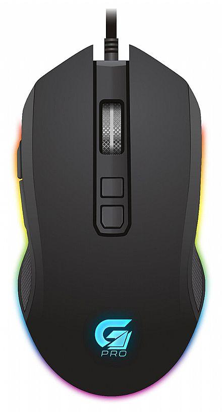 Mouse Gamer Fortrek PRO M3 - 4800dpi - 7 Botões - LED RGB - 64384