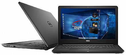 "Notebook Dell Inspiron i15-3567-D15C - Tela 15.6"", Intel i3 7020U, 4GB, HD 1TB, Intel HD Graphics 620, Linux"