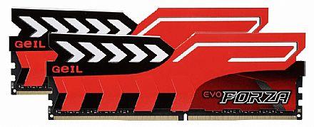 Memória Kit 16GB DDR4 2400MHz (2 x 8GB) - Geil EVO Forza - CL16 - GFR416GB2400C16D